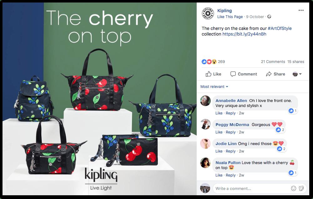 Kipling Facebook post