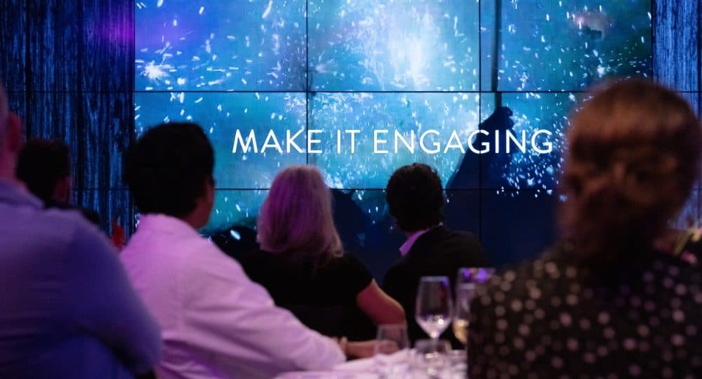 'Make it Engaging' on screen | Presentation by Ties Top at ENGAGE VIP 2018