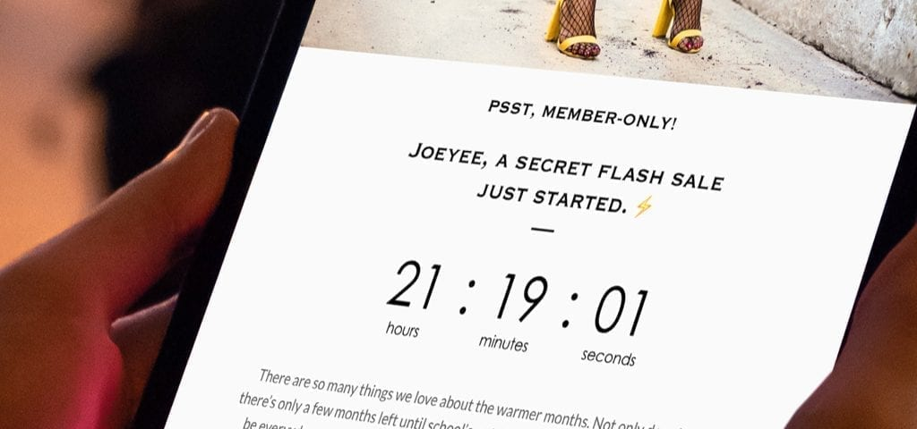 Member only flash sale