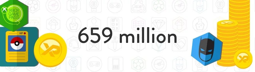 659 million coins and badges