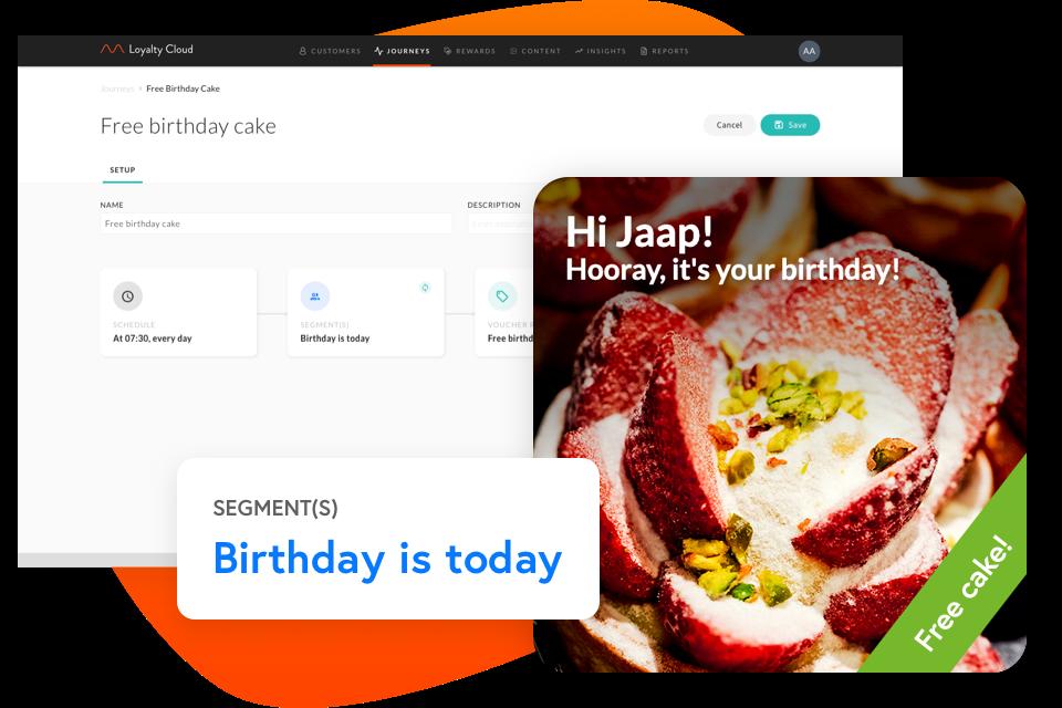 Customer Journey für eine personalisierte Geburtstagsbelohnung